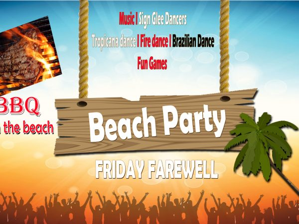 FRIDAY FAREWELL BEACH PARTY