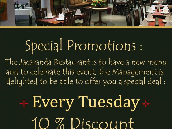 TUESDAY JACARANDA PROMOTION